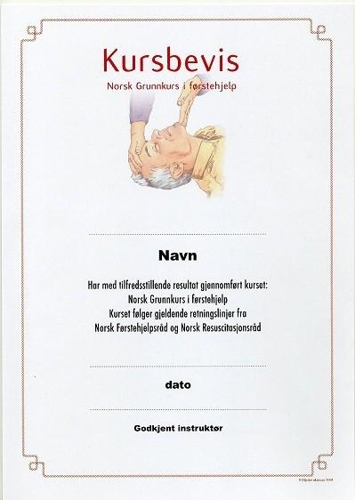 Hlr Kursbevis Diplom 100 Stk I Pakke Hjertevakten
